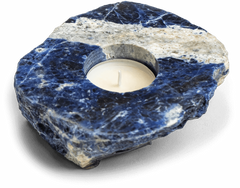 Sodalite Candle Holder for the Home - Energy Muse