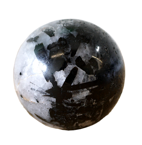 Tourmalinated Quartz Sphere - Energy Muse