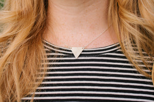 Tiffany Triangle Necklace by Atelier Calla