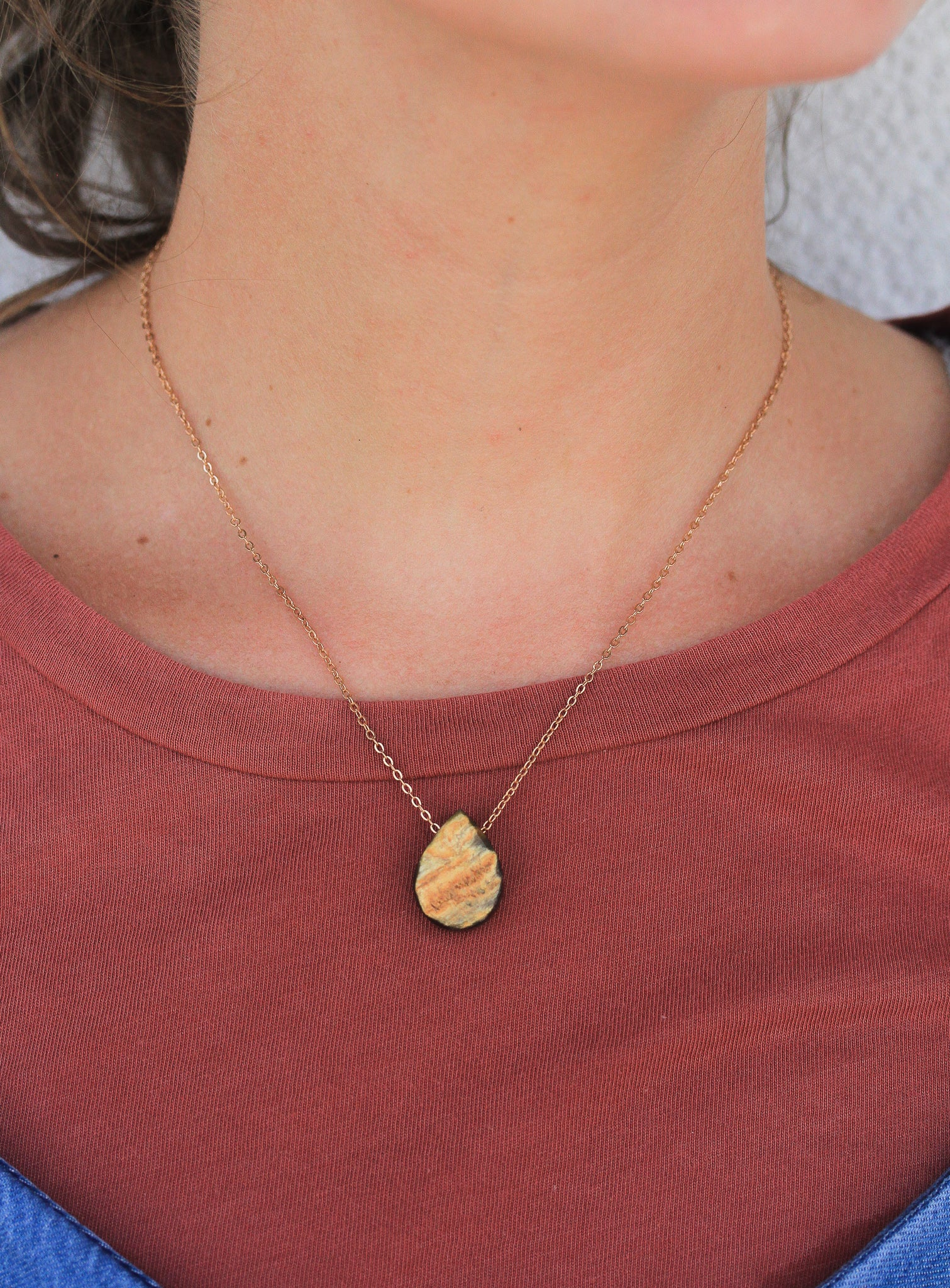 Teardrop Horn Necklace by Atelier Calla