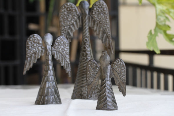 Medium Standing Angel Metal Art