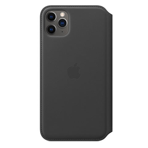 iPhone 11 Pro Max Leather Folio - Black