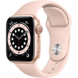 Apple Watch Series 6 (GPS, 40mm, Gold Aluminum , Pink Sand Sport Band)