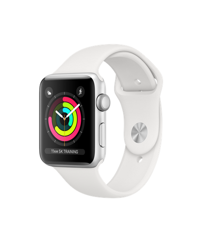Apple Watch S3 42MM Silver Aluminum Case with White Sport Band