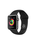 Apple Watch S3 38MM Space Gray Aluminum Case with Black Sport Band