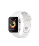 Apple Watch S3 38MM Silver Aluminum Case with White Sport Band