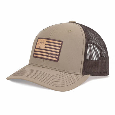 Leather Flag Sportsman Hat