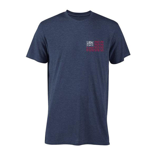 Sportsman American Flag Navy Short Sleeve Shirt