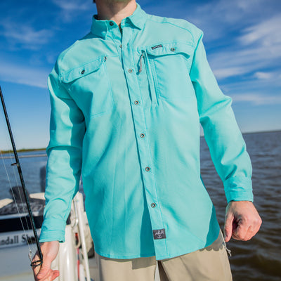 Sportsman button down shirt and shorts - fishing apparel
