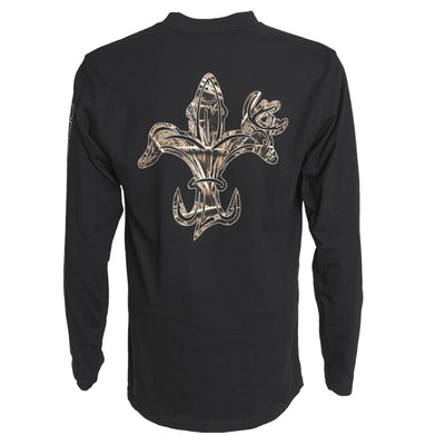 Sportsman Dri Balance - Camo Logoo Black Long Sleeve Shirt Wicking