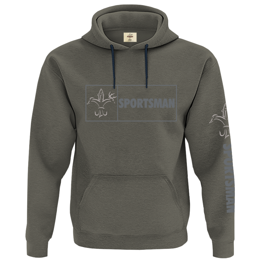 Sportsman Camp Hoodie Framed Chest Logo - Loden