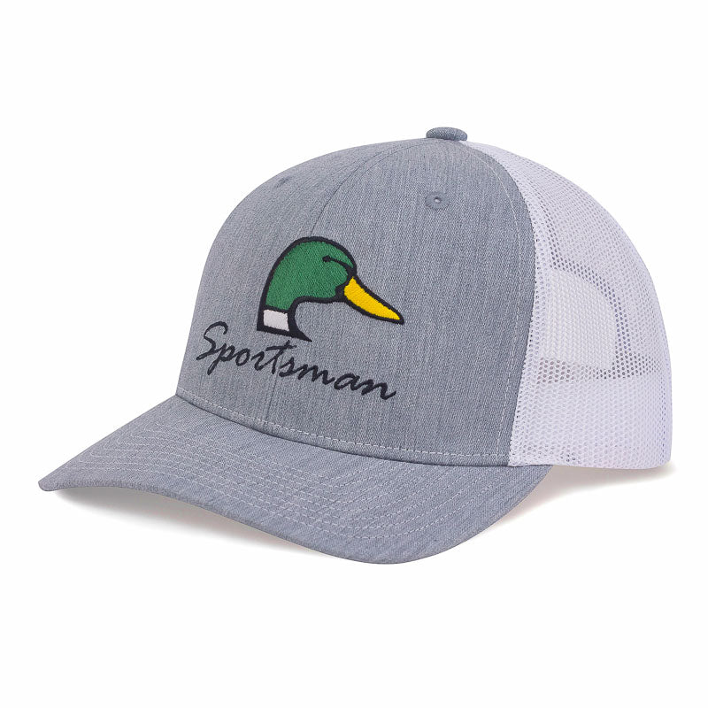 Sportsman Embroidered Mallard hat - HTR Grey/White