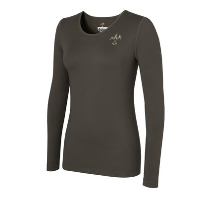Women's long sleeve hunting shirt - Sportsman dark green base layer