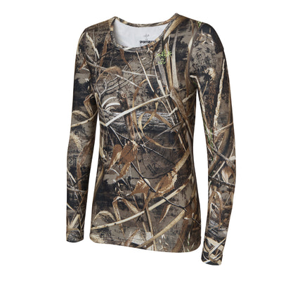 Women's long sleeve hunting shirt - Sportsman Max 5 Camouflage base layer