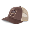 brown trucker hat mesh back cotton precurved bill