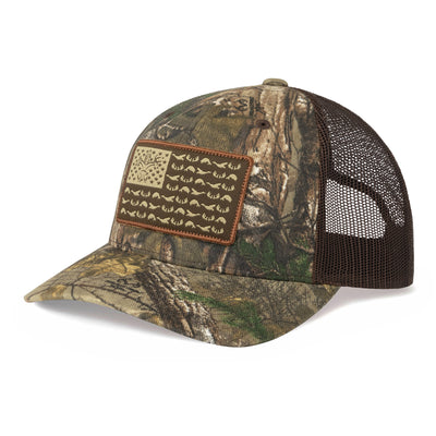 American Sportsman Camo Mesh Back Hat- RealTree Xtra / Brown