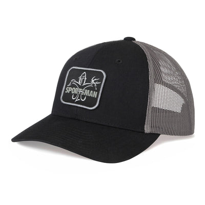 Sportsman Patch Hat - Black / Charcoal