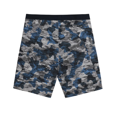 Sportsman Gear Pacific Board Shorts Blue Ice Camo