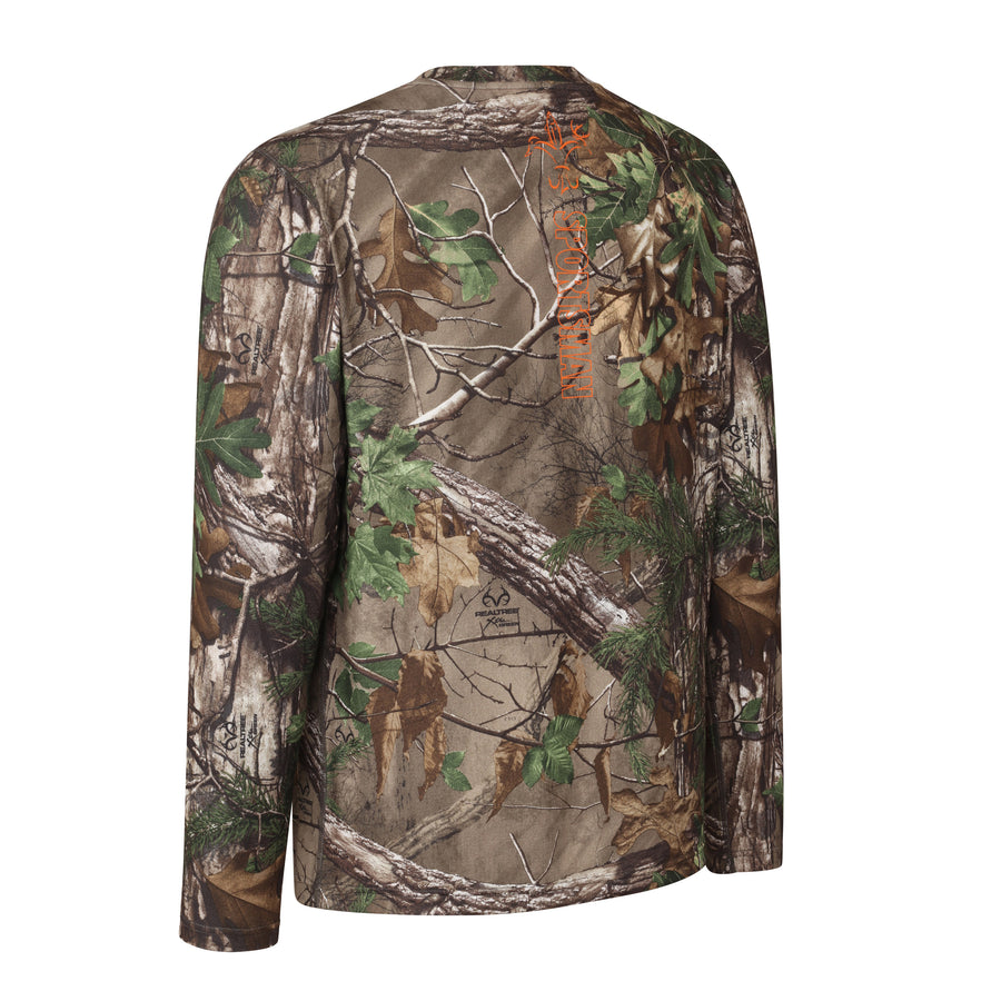 Sportsman Responder Xtra Green Camo Shirt, Long Sleeve Base Layer - woods deer hunting