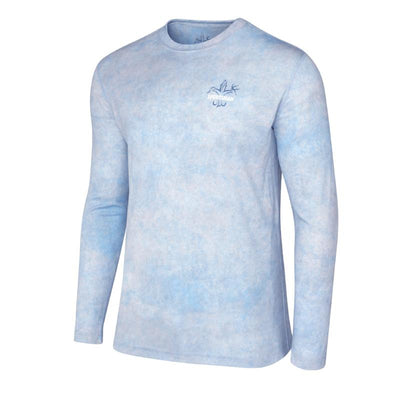 trout fishing shirt graphic light blue
