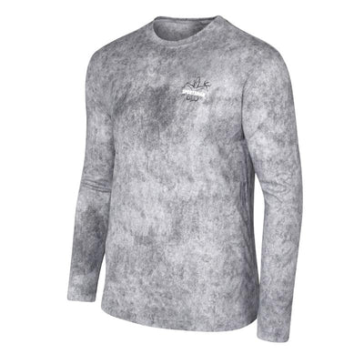 sports fishing shirt graphic marlin grey