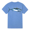 Sportsman Tuna Short Sleeve Shirt - Heather Royal