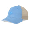 Sportsman Unstructured Mesh Snapback Hat - Light Blue, Khaki, White Logo