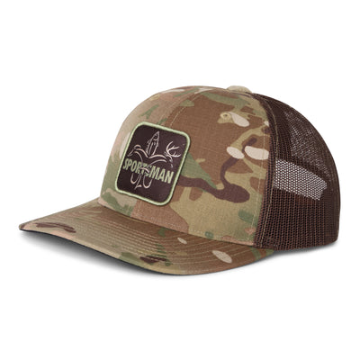 Sportsman Hat - mesh back snapback old school camo
