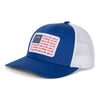 Sportsman Hat - American Flag mesh back snapback royal blue and white