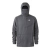 Outbound Fishing Hoodie with Face Mask - Grey Quarter Zip - Sportsman Gear