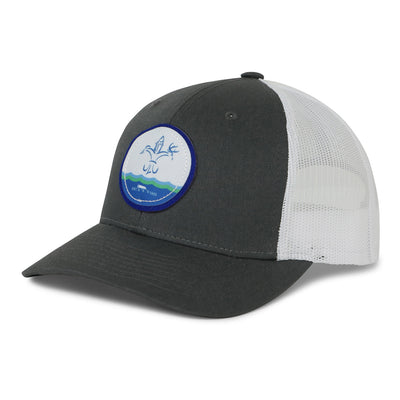 Sportsman Mesh Back Circle Wave Patch Hat