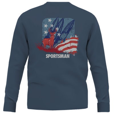 Sportsman Red Whitetail & Blue Shirt - Navy