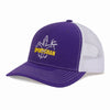 Sportsman Embroidered Hat - Purple/White
