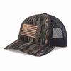 Leather American Flag Patch Hat