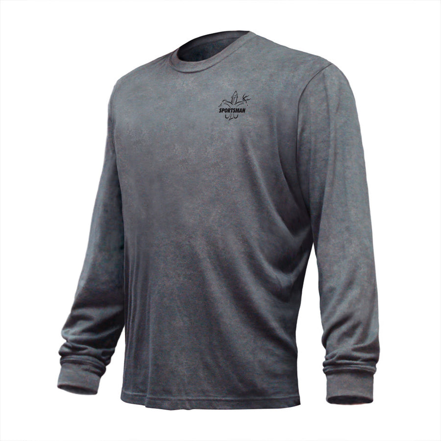 Sportsman it's who we are long sleeve performance shirt dark grey