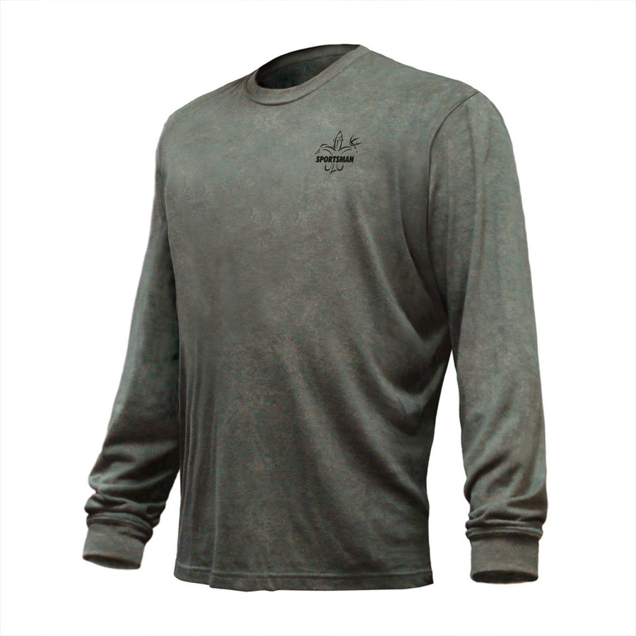Sportsman Buck Long Sleeve Performance Shirt Olive Green