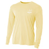 sportsman speckled trout graphic long sleeve yellow performance fishing shirt