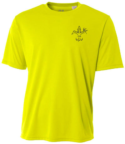 kids fishing shirt youth sportsman performance yellow