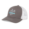 Sportsman Embroidered Hat - Charcoal/white