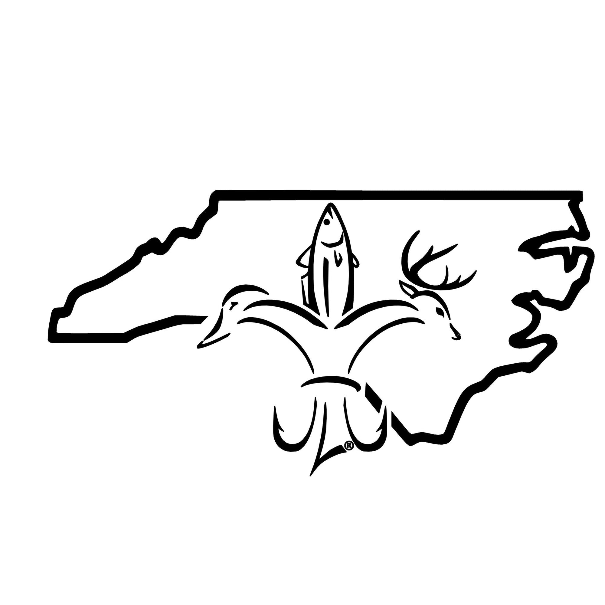 North carolina sportsman state decal official sportsman logo for Fishing in duck nc