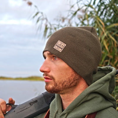 Sportsman duck hunting green beanie and hoodie