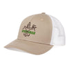 Sportsman Embroidered Hat - Khaki/White
