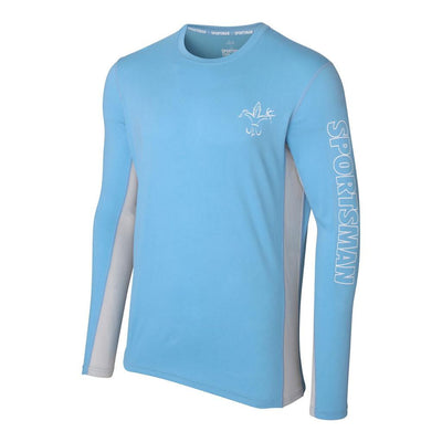 lightweight fishing shirt  Sportsman cool breeze classic blue mist