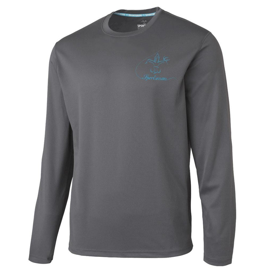 Performance Fishing Shirt - Long Sleeve - Sportsman Equinox - Bass - Charcoal