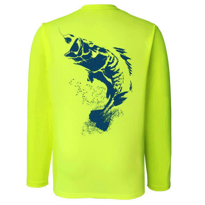 Bass Fishing Shirt - Long Sleeve - Sportsman Equinox - Bass - Chartreuse