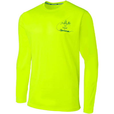 performance fishing shirt long sleeve bass Chartreuse