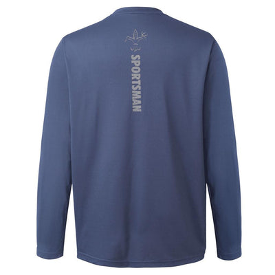 long sleeve performance fishing shirt dusk blue