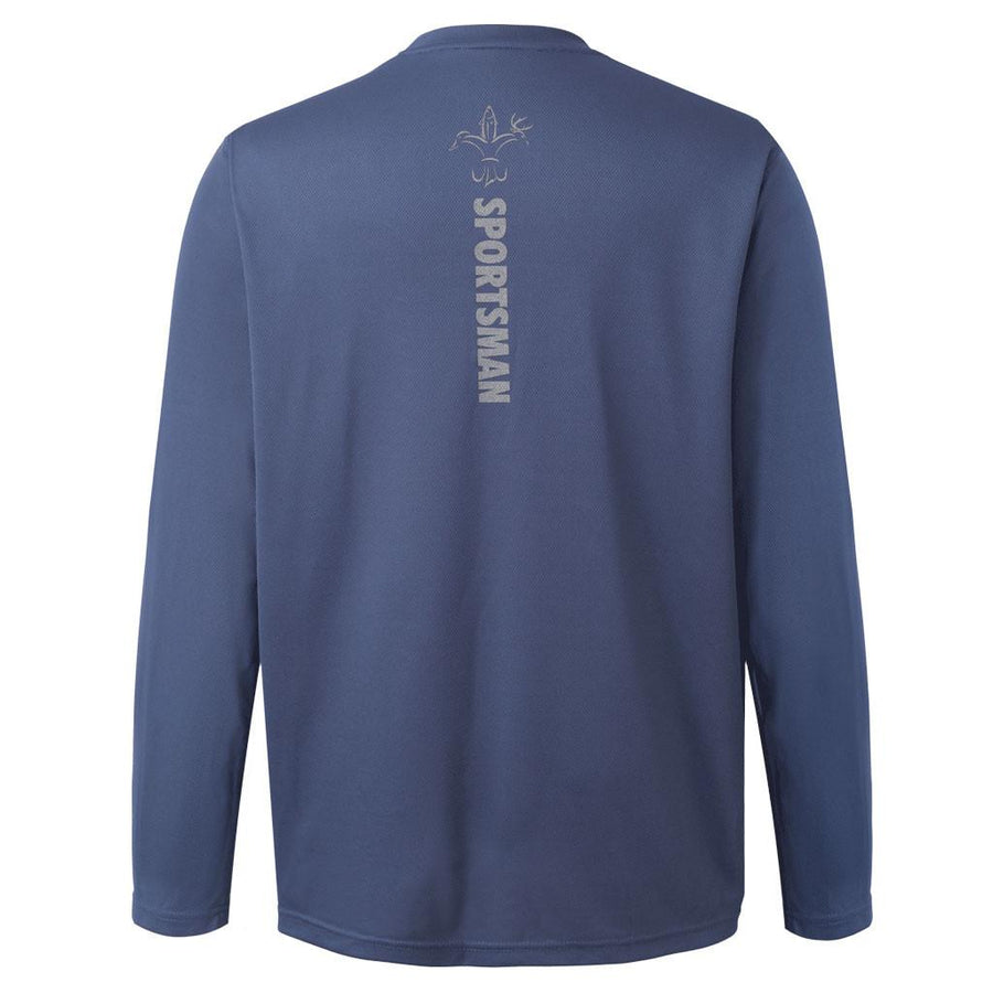 Performance Fishing Shirt - Sportsman Equinox - Long Sleeve - Front Logo - Dusk
