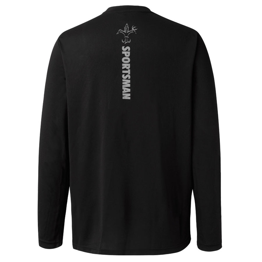 Performance Fishing Shirt - Long Sleeve - Sportsman Equinox - Front Logo - Black