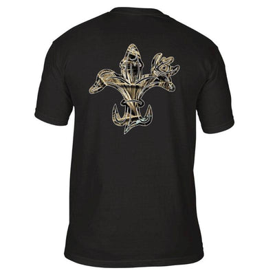 sportsman cotton t-shirt black with camo logo